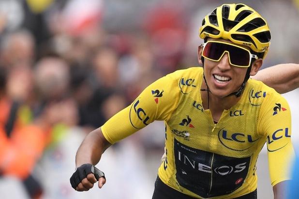 El colombiano Egan Bernal con la mira puesta en el Tour de France 2022