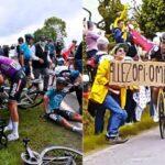 Se realizó el juicio de la espectadora que provocó el accidente en el Tour de Francia 2021